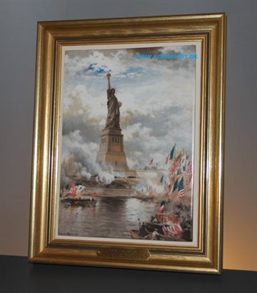 Porcelæns billede The unveiling of The statue of Liberty